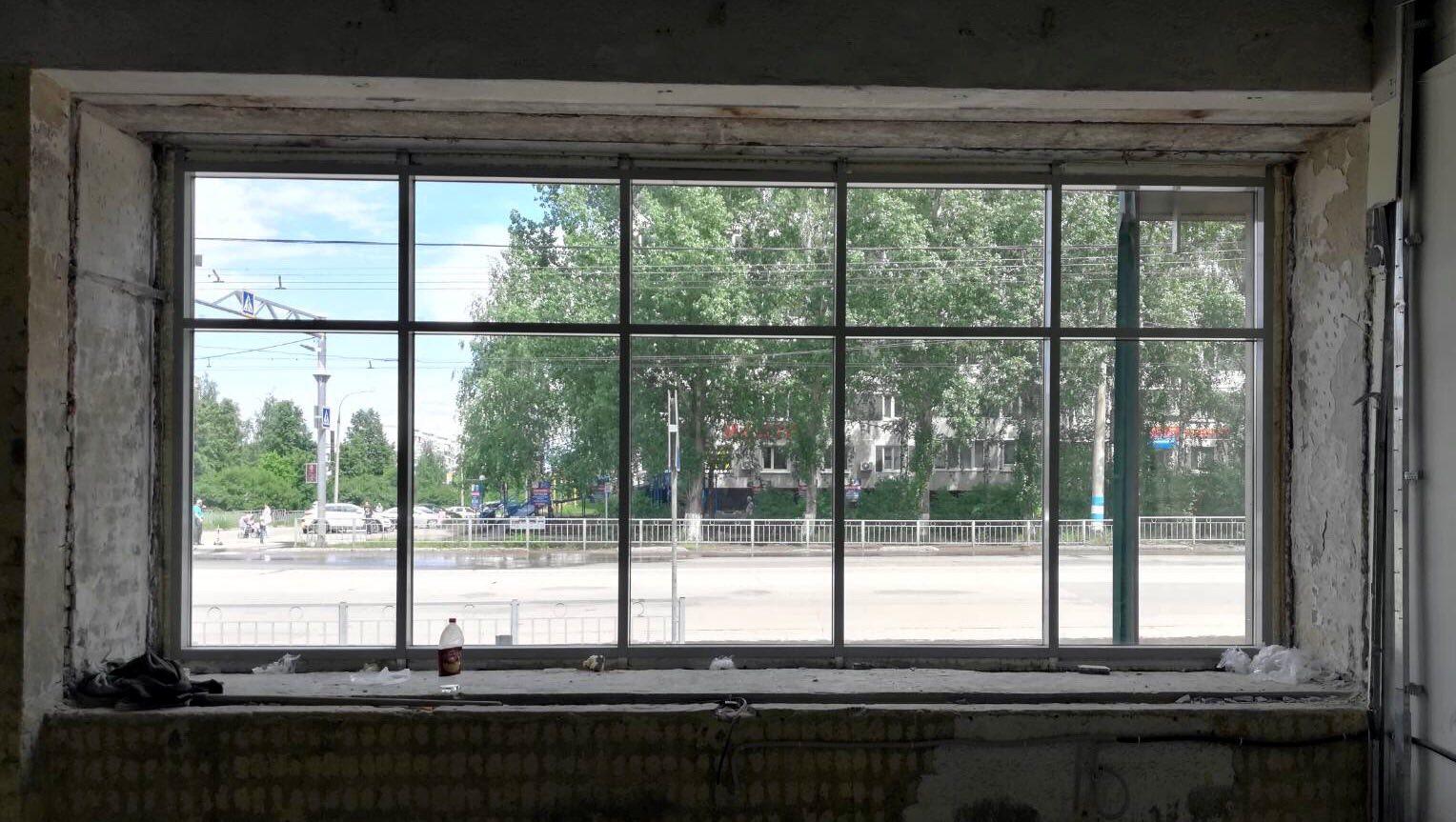 В одном из магазинов «Пятерочка» г. Ульяновск выполнен монтаж алюминиевых конструкций: