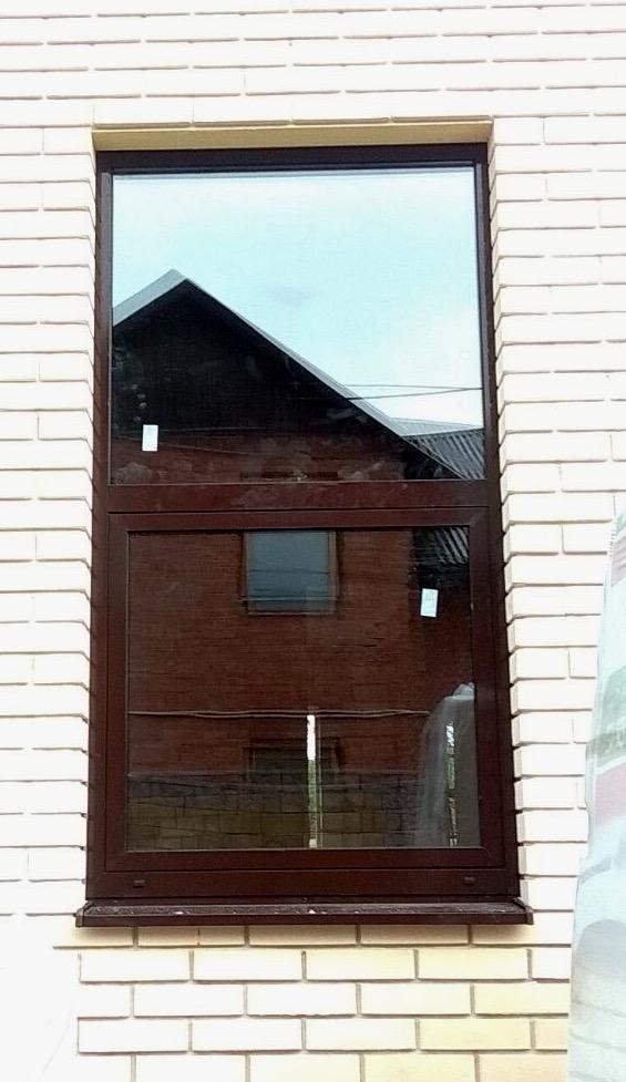 В городе Самара были смонтированы алюминиевые окна на системе W 62