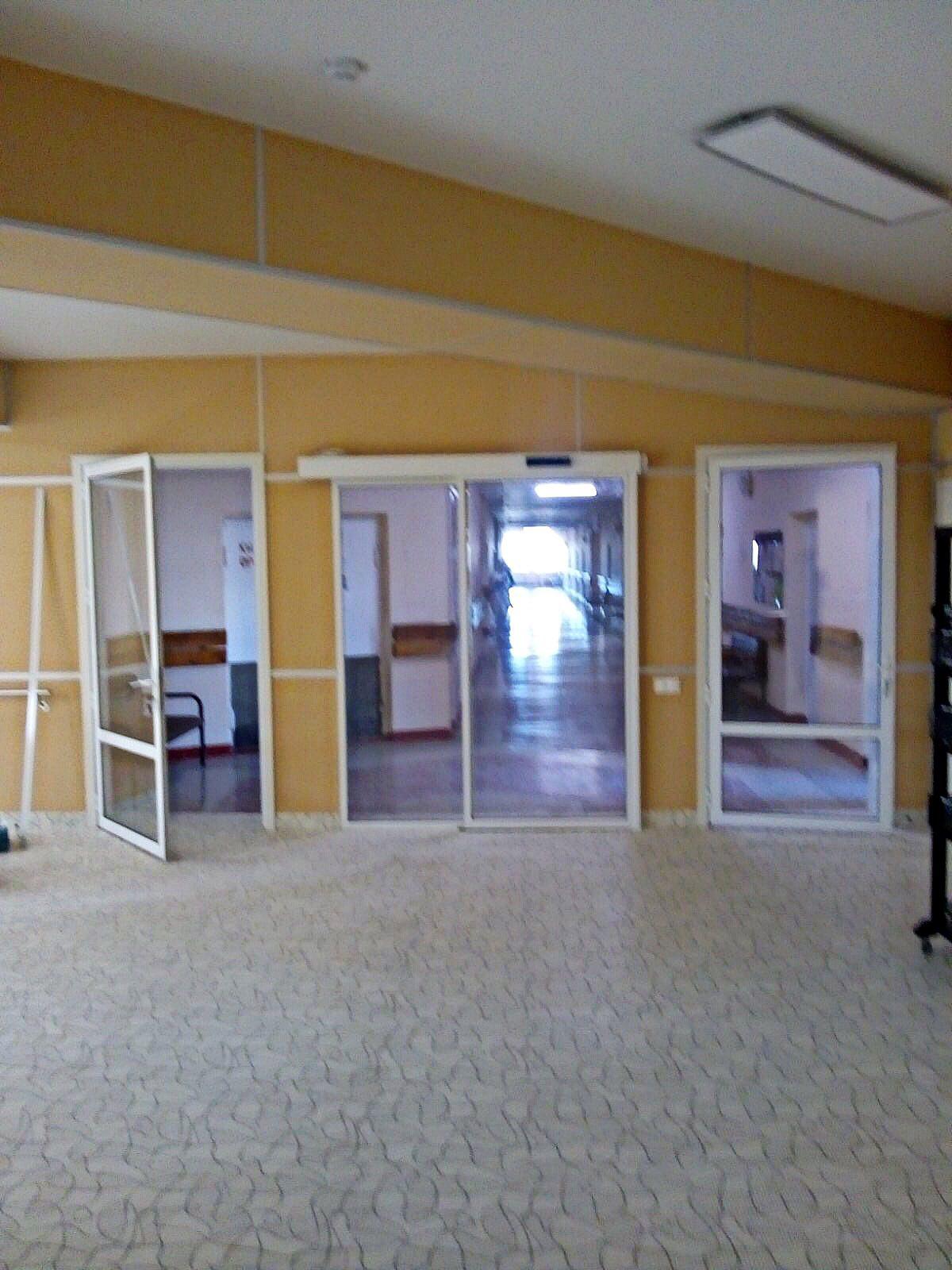 В п. Серноводск, в санатории «Серные воды», смонтировали алюминиевые конструкции из профиля Alutech C43